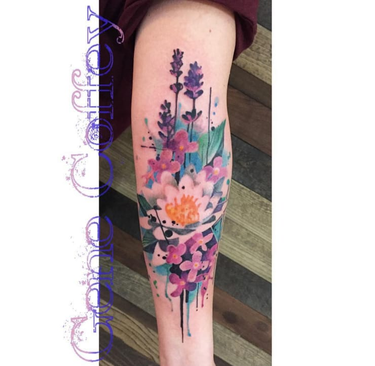 10 Floral Tattoo Artists You Could Trust Your Skin To: 14 Splendid Watercolor Flower Tattoos