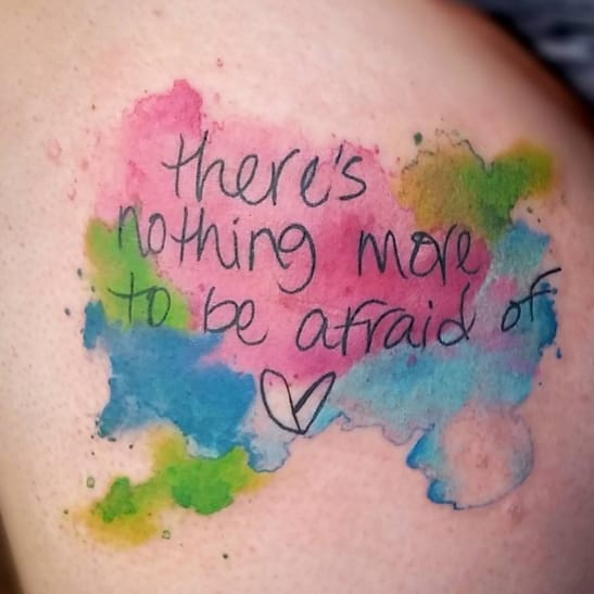 Why Watercolor Can Make Your Script Tattoo Magnificent