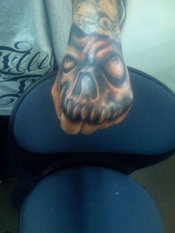 Hand Skull By Tommy Montoya