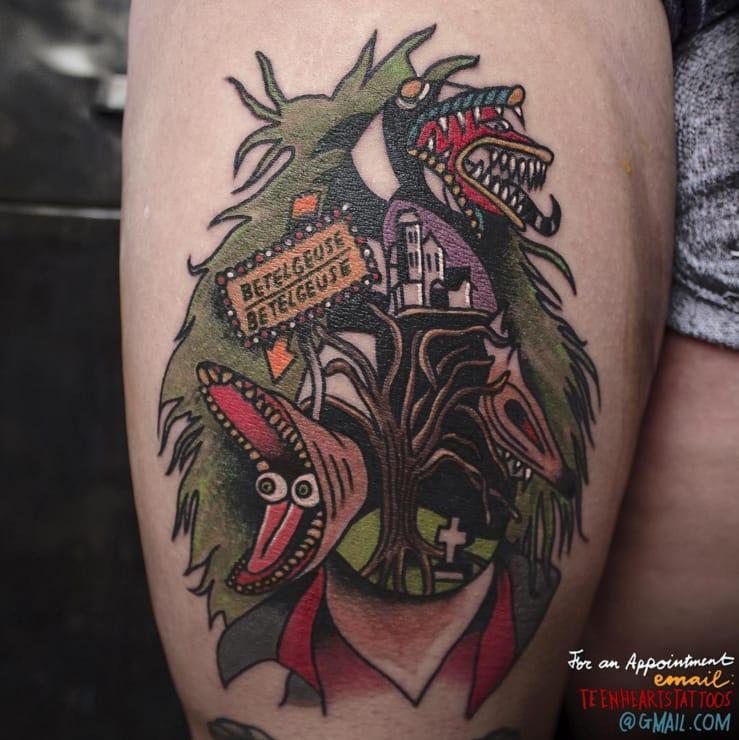 Beetlejuice, Beetlejuice, Beetlejuice! By Teen Hearts Tattoo.