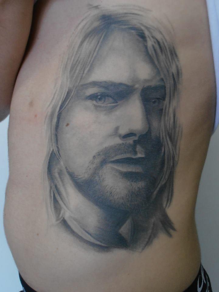 Kurt Cobain cicatrizado