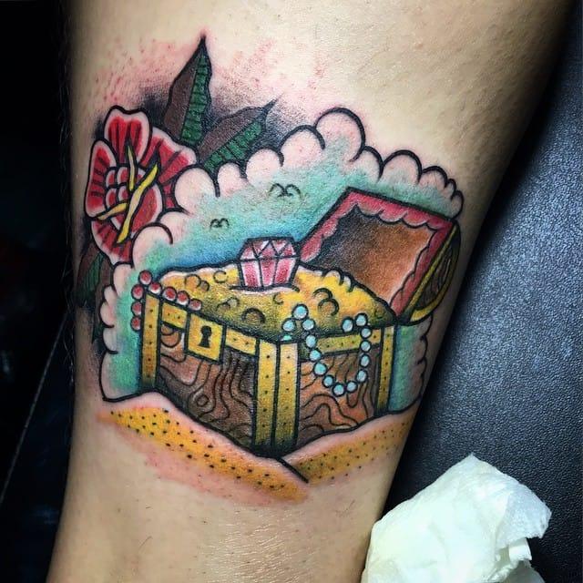 Treasure Chest Tattoo by BB Tattoo