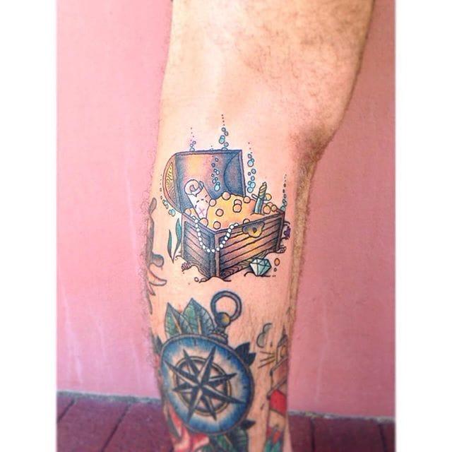 Treasure Chest Tattoo by Darcie Kapor