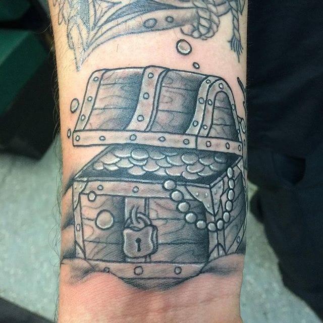 Treasure Chest Tattoo by Jason Rose