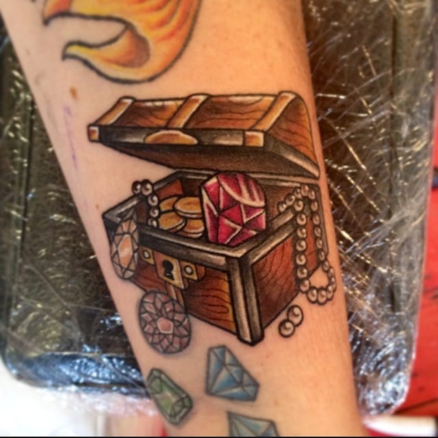 Treasure Chest Tattoo by Kirky Maree Donnelly