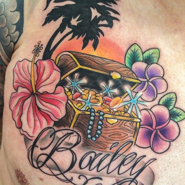 Treasure Chest Tattoo by Melissa Varney