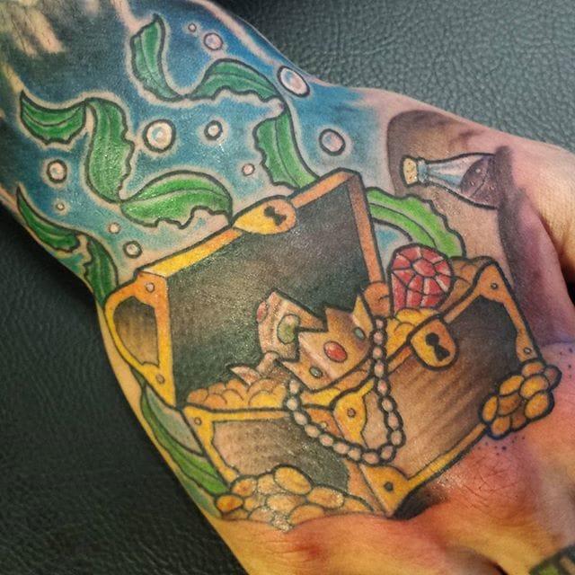 Treasure Chest Tattoo by Mary Madsen