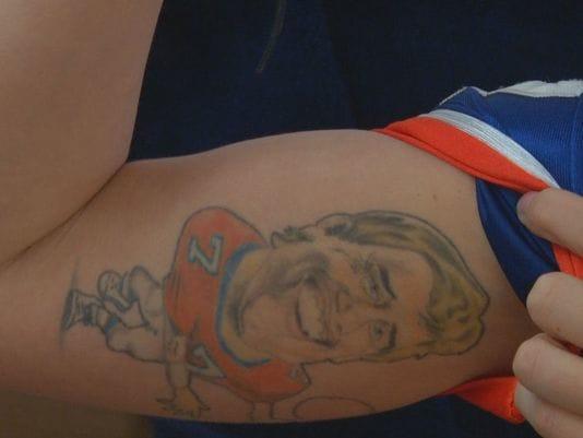 Broncos Superfan Boasts Crazy John Elway Tattoo!