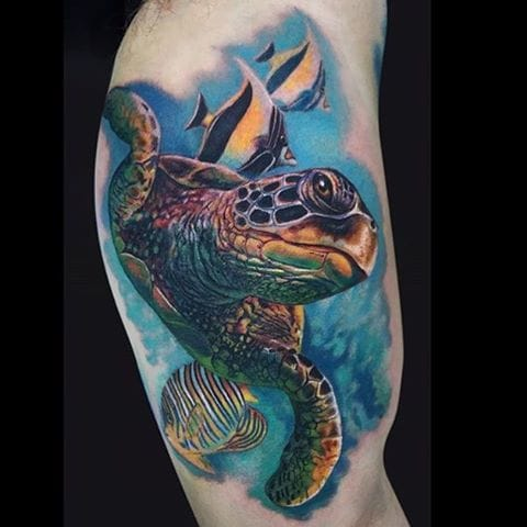 By Jamie Lee Parker. #Turtle #TurtleTattoo