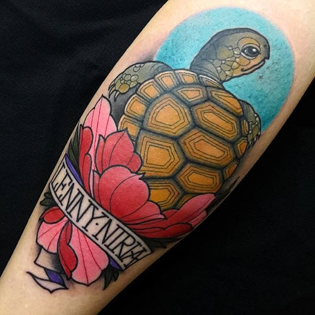 Great one by Marshmillos. #Turtle #TurtleTattoo