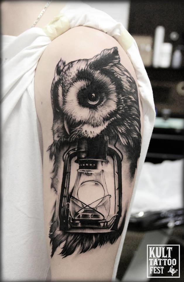 Shiny owl.