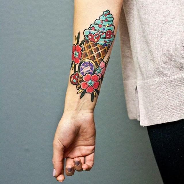 15 Irresistible Ice Cream Tattoos