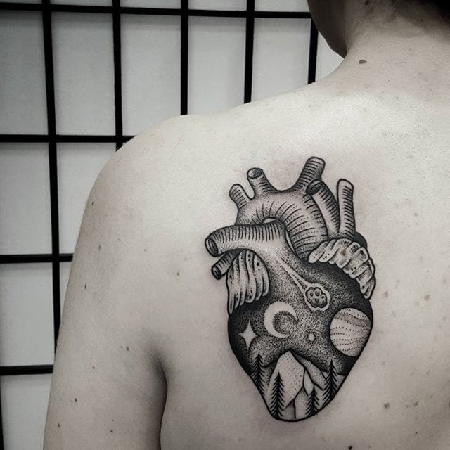 Cosmic anatomical heart.