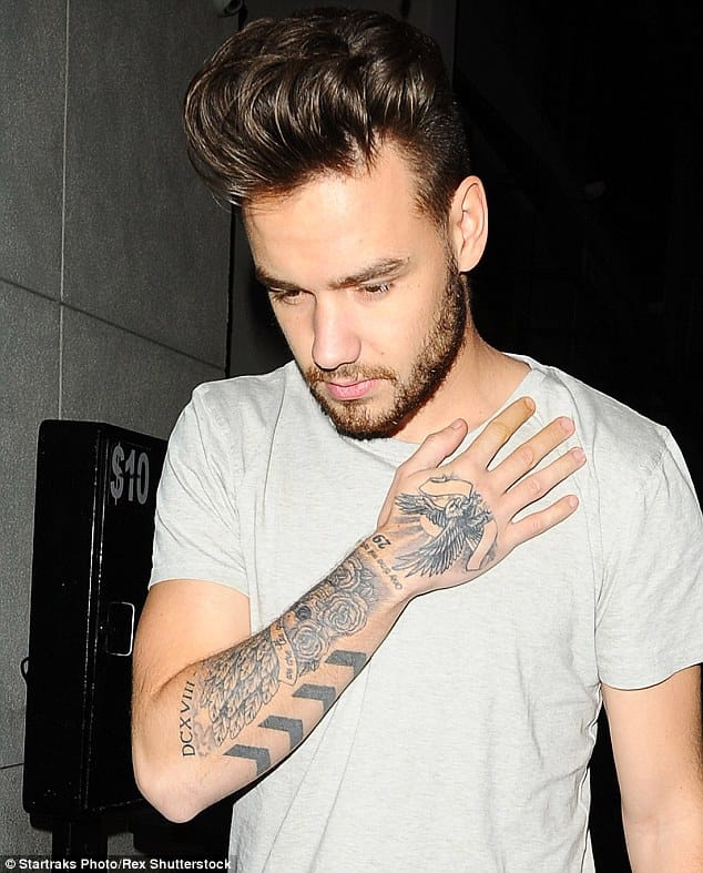 Liam's right arm tattoos