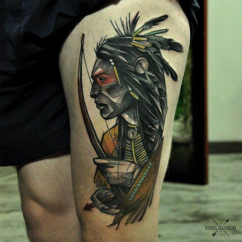 Handsome Native Indian warrior.