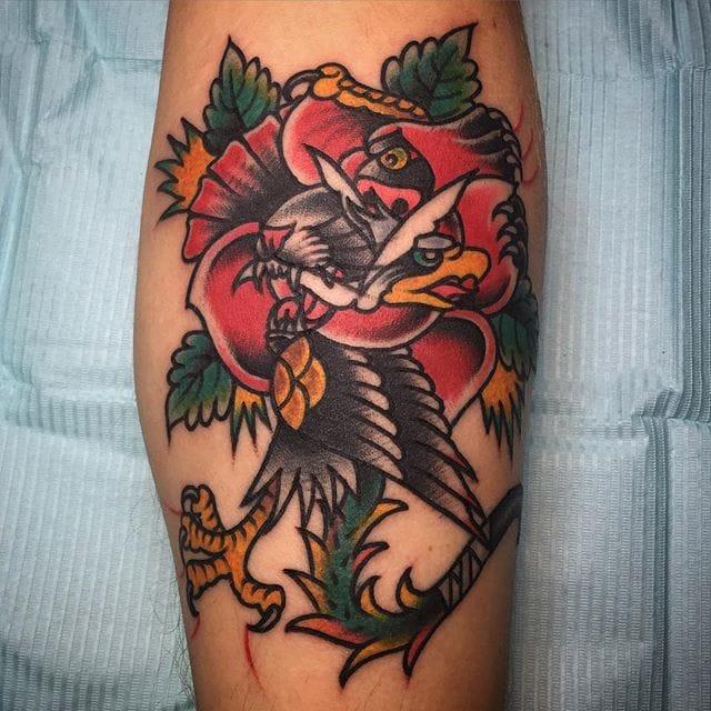 11 Inspiring Rose Morph Tattoos