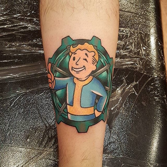 15 cool vault boy tattoos for all fallout fans tattoodo