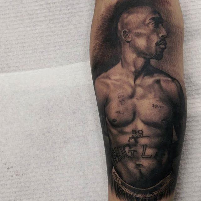 2Pac Tattoo by Matt Jordan
