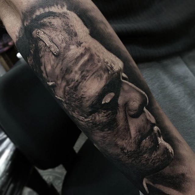 Frankensteins Monster Tattoo