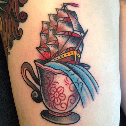 Tea is like a little sea, with a t! By Mitch Stiefler.