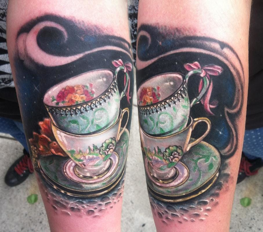 Another great realistic set of teacups by Johnny Smith of Off The Map.