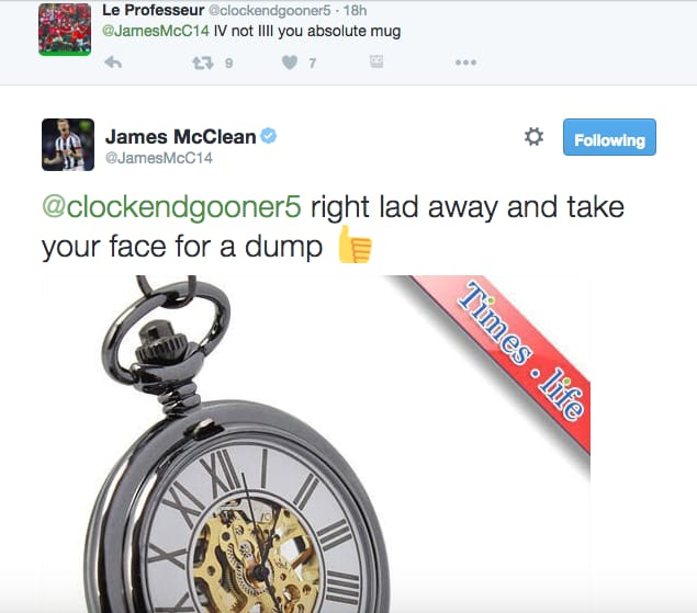 McClean Quickly Proved Himself Correct!