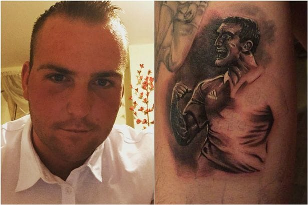 Welsh Rugby Fan Gets National Team Players Tattooed on his arm