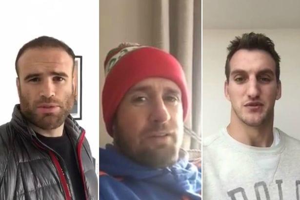 Jamie Roberts, Shane Williams and Sam Warburton