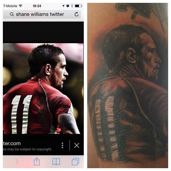 Shane Williams Tattoo
