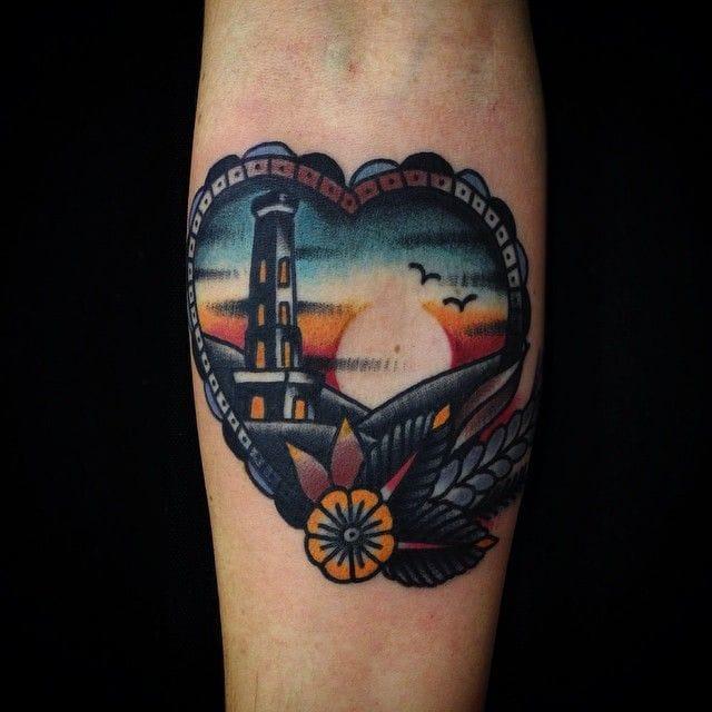 Where do you best love to watch the sun set? Sunset Tattoo by Matt Cooley