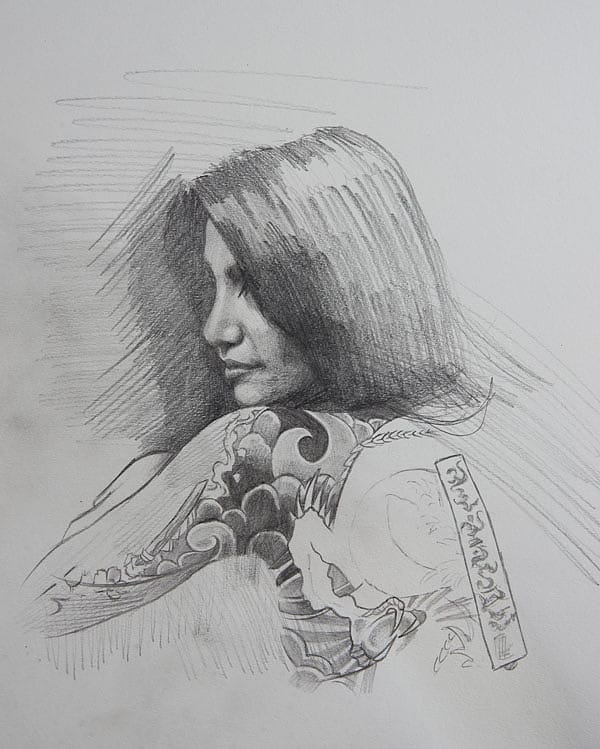 Drawing by Chris Guest