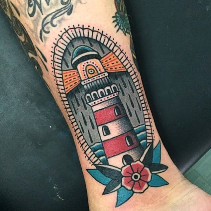 Lighthouse Tattoo by Almagro Tattooer