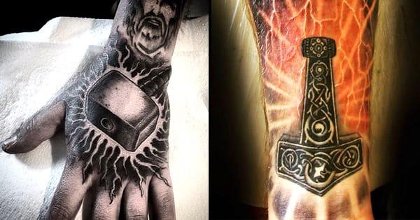 12 Mighty Mjolnir Tattoos   Tattoodo