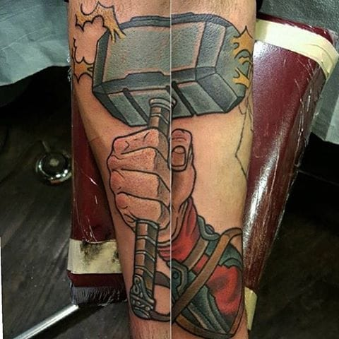 Mjolnir Tattoo by Eric Kaplan