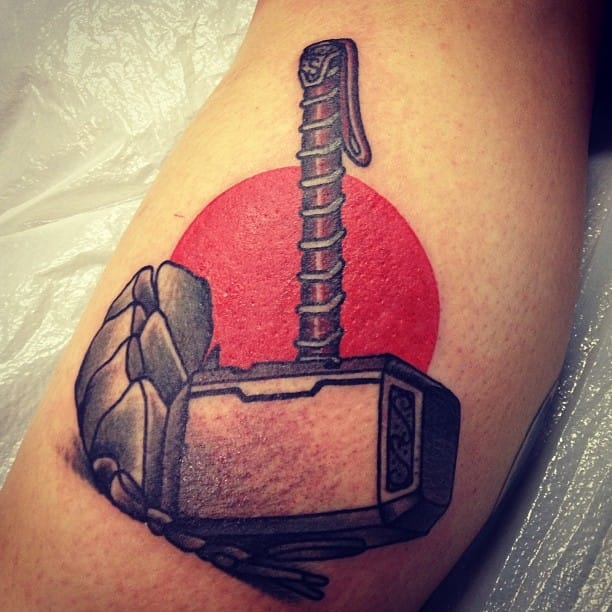 12 Mighty Mjolnir Tattoos | Tattoodo