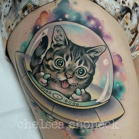 Lil Bub Tattoo by Chelsea Shoneck