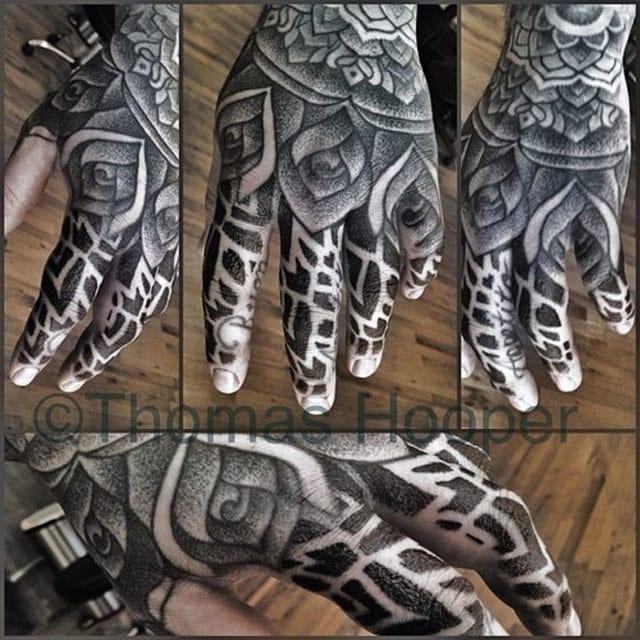 Wicked Full Hand Tattoo by Thomas Hooper