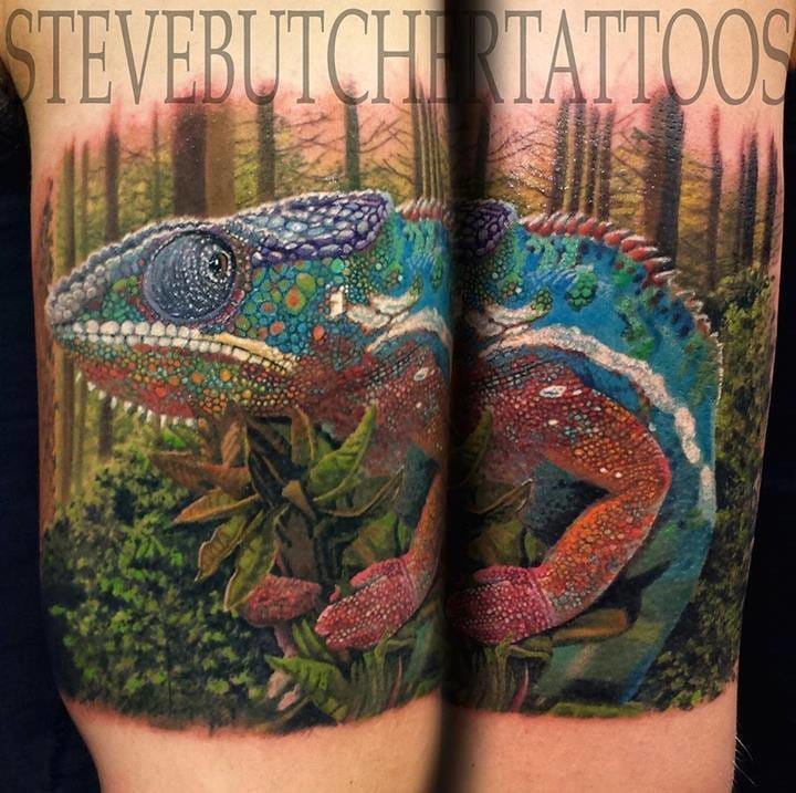 Bold, Bright & Beautiful Realistic Tattoos by Steve Butcher