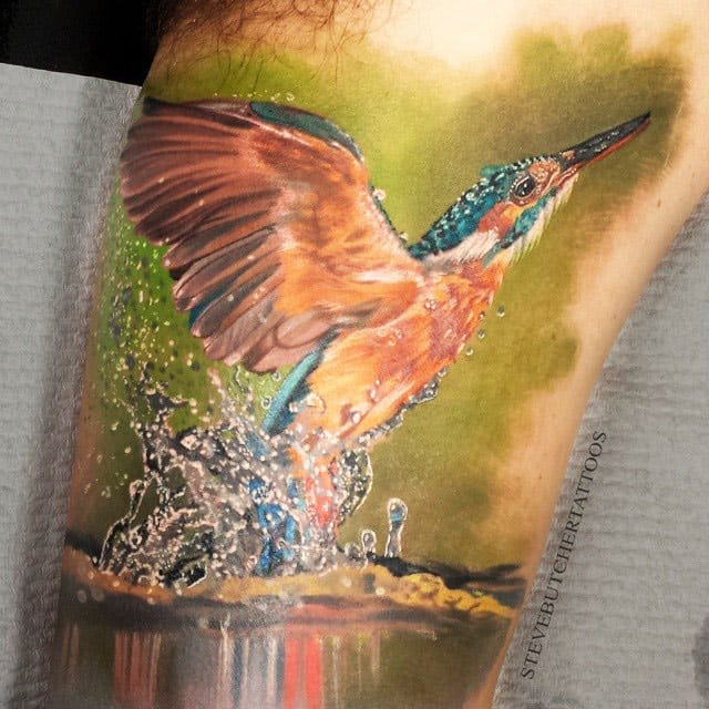 The water drops on this one - so awesome! Tattoo by Steve Butcher.