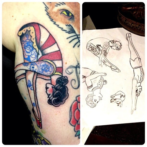 Acrobat Tattoo by Ian Sellar