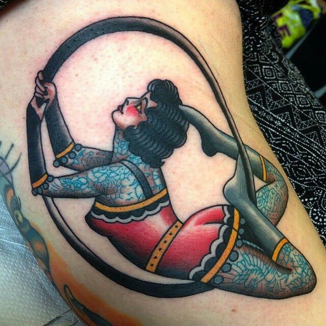 Acrobat Tattoo by Lewis Parkin