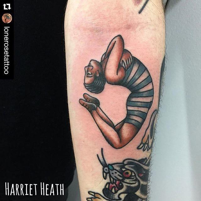 Acrobat Tattoo by Harriet Heath