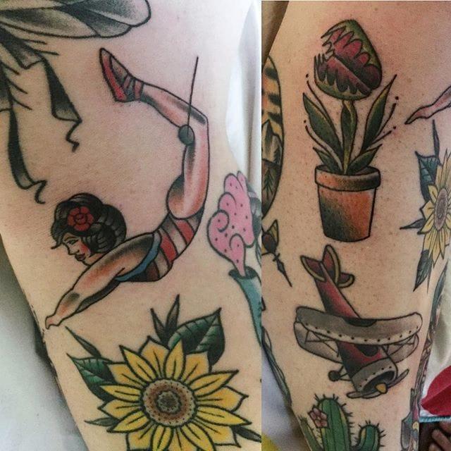 Acrobat Tattoo, artist unknown