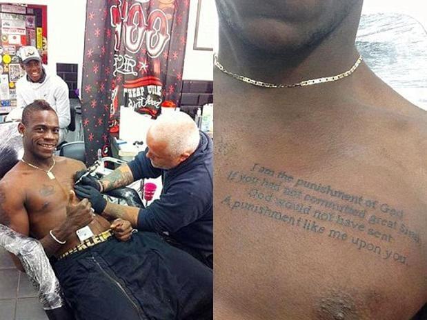 Balotelli Chest Tattoo
