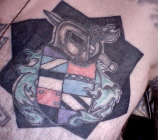 The tattoo completed certainly now doesn't look like a swastika