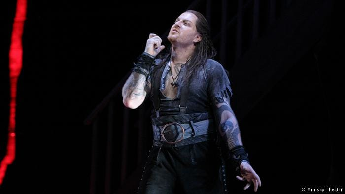 Evgeny performing in the role he was forced to leave because of some bad tattoo choices