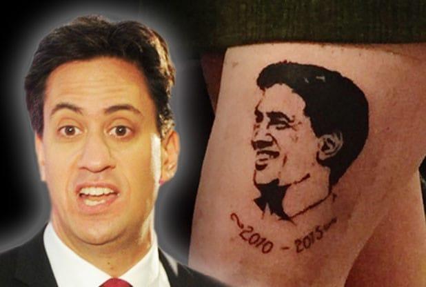 #1 Milifan Gets Tattoo of UK Politician Ed Miliband