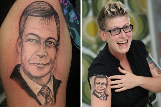 Kerrie's tattoo shows her dedication to her political view. Would you go that far?