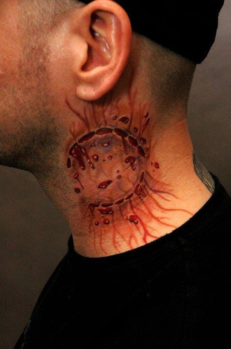8 Bloody Gruesome Zombie Bite Tattoos