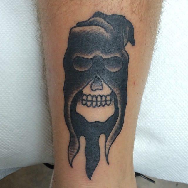 Executioner Skull Tattoo by Bobby Bosak